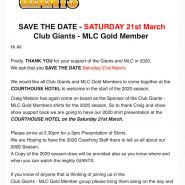 Club Giants – MLC Gold Member Event